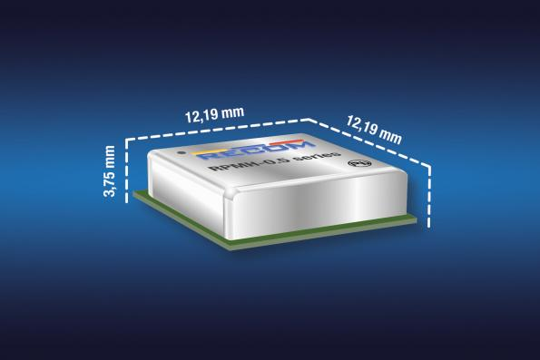 The RPMH-0.5 non-isolated DC-DC converter from Recom comes in a DOSA-compatible thermally-enhanced low profile LGA package for 48V system designs.