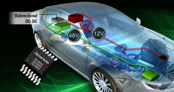 100V half-bridge drivers for bidirectional 12V to 48V powertrains