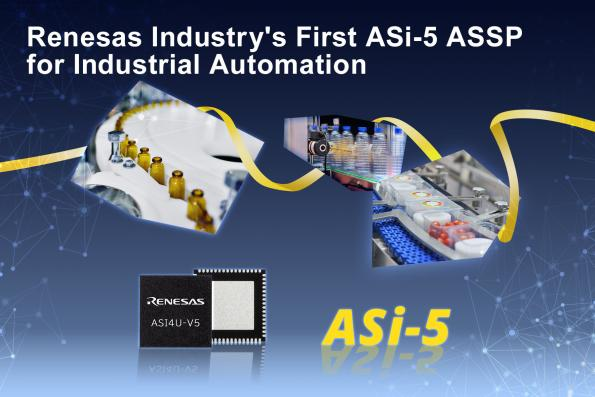 Renesas claims the company's new ASI4U-V5 ASSP is the industry's first silicon solution that fully implements the ASi-5 (Actuator Sensor Interface version specification version 5) standard.