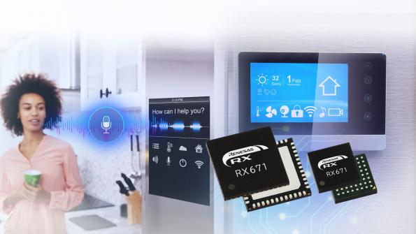 Microcontroller range for touch-free sensing and voice recognition