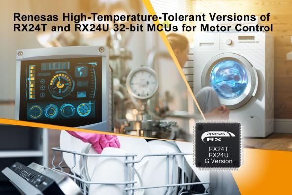 RX24T and RX24U MCU ranges expanded to include high-temperature-tolerant variants