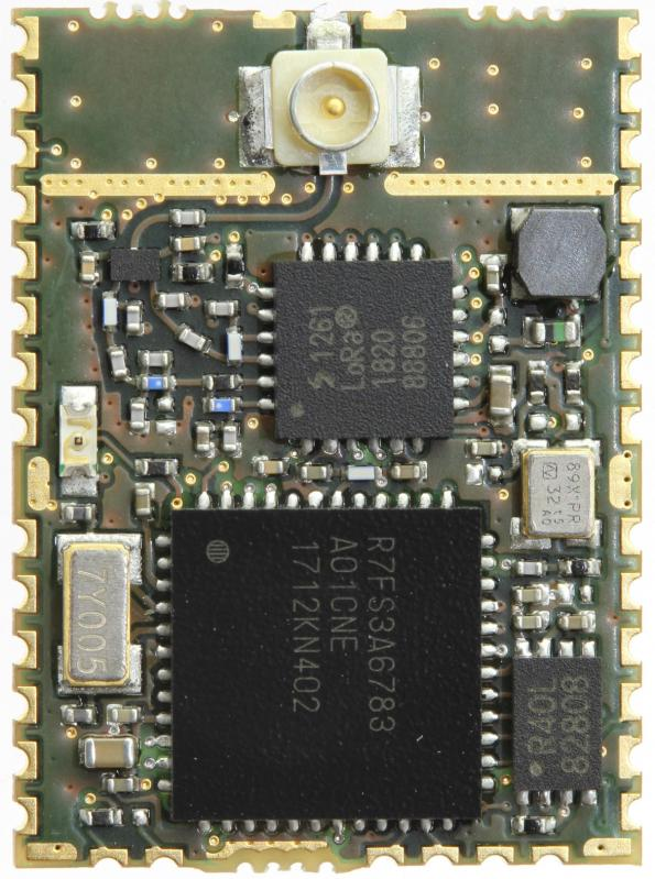 Enhanced LoRa module is based around Renesas Synergy platform