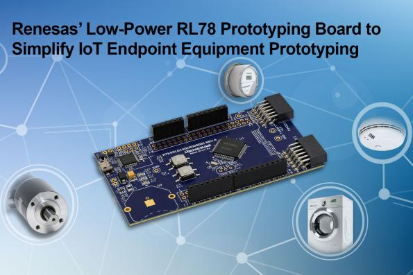 Renesas has introduced the RL78/G14 Fast Prototyping Board – a cheap, feature-rich board for the quick development of IoT endpoint equipment.