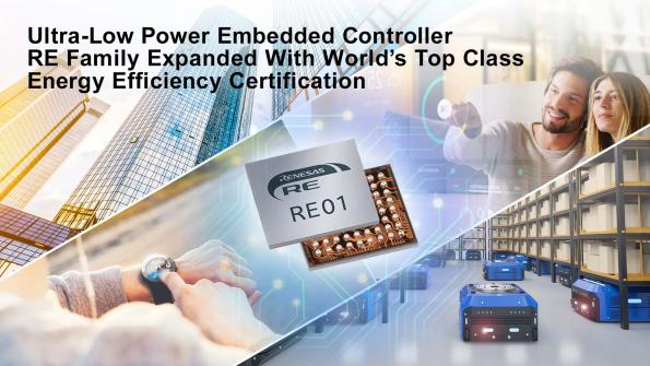 Renesas has added a new ultra-low-power embedded controller to the company's RE Family of Arm Cortex-M0+ based processors.