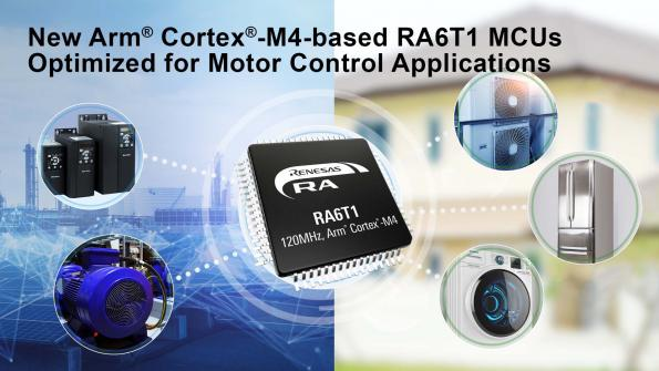 Renesas has extended its RA MCU family with the RA6T1 range, which has been designed for motor control applications in industrial and building automation.