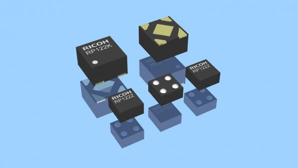 The RP122 uses Ricoh's 'Seamless' technology to combine both LDO typesand offers 90 dB ripple rejection from a 1.7 V to 5.25 V input, fast transient response speed and 9.5 µA currentconsumption without output load.