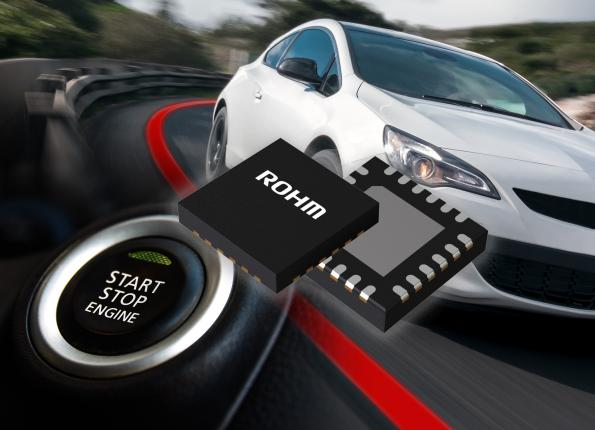Buck-boost chipset for start-stop vehicle systems