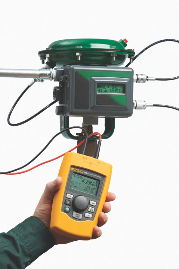 Tester to simplify measurement of industrial control valves in distribution