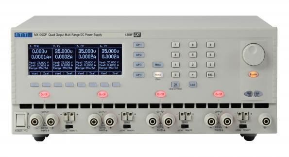 The MX100Q four channel power supply from AIM-TTi uses mixed mode regulation to provide up to 420W of power.
