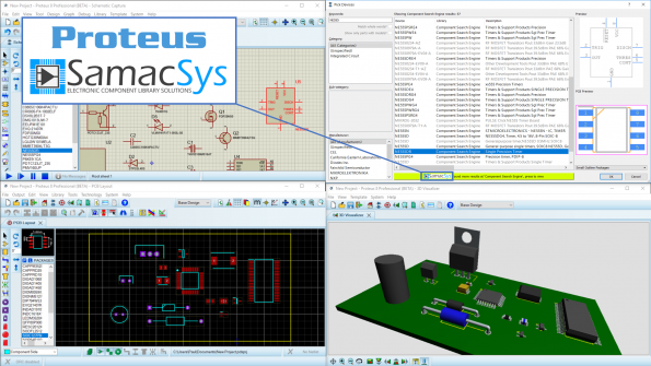PCB library service integrated into Proteus Design Suite