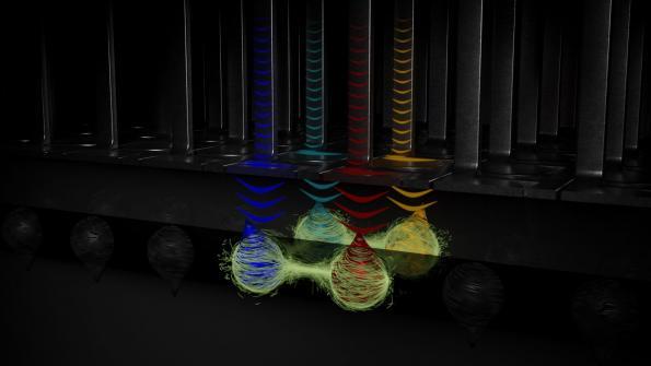 A four qubit array for quantum computing