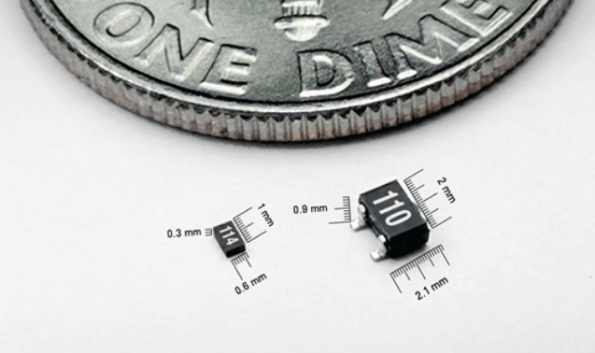 Smaller wireless receiver converts RF to DC power