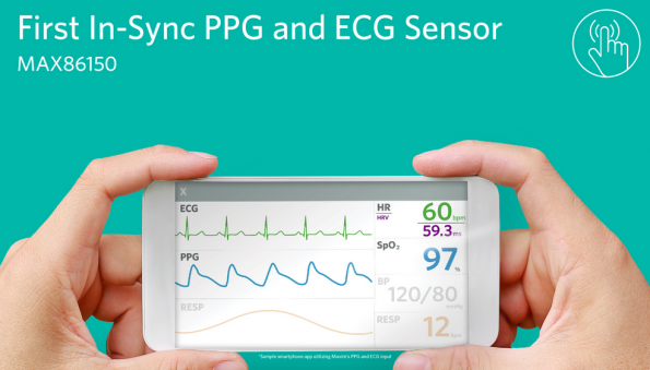 Maxim offers integrated PPG and ECG biosensor module