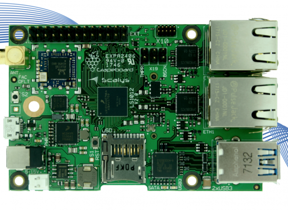 Grapeboard development board now available at Arrow