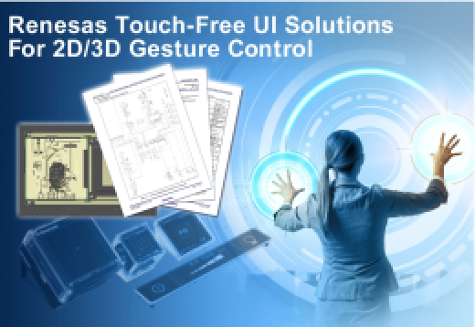 Renesas Electronics Launches Microcontrollers For 2D/3D Gesture Control