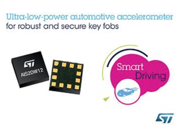 Accelerometer from STMicroelectronics adds durability to secure Remote Key Fobs