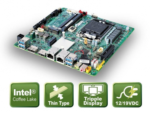 ICP Deutschland launches thin Mini-ITX Mainboard
