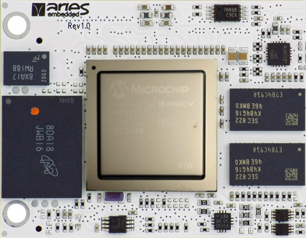 New System-on-Module M100PFS Based on Microchip's low-power PolarFire SoC FPGA