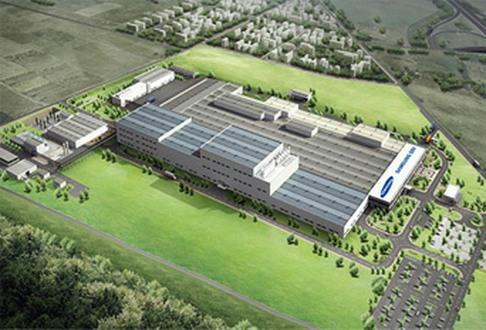 Samsung SDI battery gigafactory in Goed, Hungary
