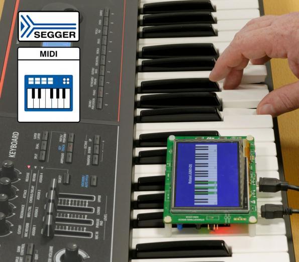 MIDI class support for SEGGER USB host stack