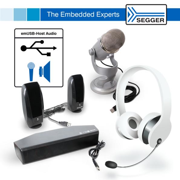 Audio added to SEGGER emUSB-Host
