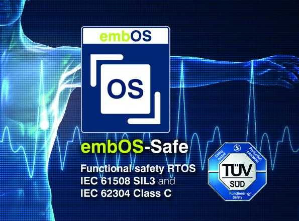 embOS-Safe is certified to SIL 3 for safety-critical applications