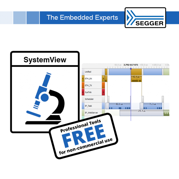 SEGGER's has made SystemView available under Friendly Licensing, allowing everyone to have access to Embedded Systems verification.