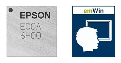 Epson Licenses SEGGER's emWin for S1C31D01 MCU Range