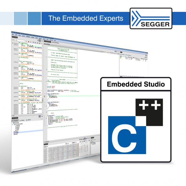 SEGGER's newest release of Embedded Studio includes the ability to debug software on evaluation boards with a DAP-Link (CMSIS-DAP) debug interface.
