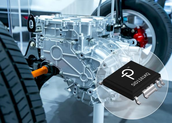 The SID1181KQSCALE-iDriver from Power Integrations is an automotive-qualifiedgate driver for 750 V-rated IGBTs that requires only one transformer secondary winding.