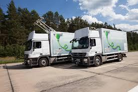 Siemens trials of overhead charging for long distance trucks