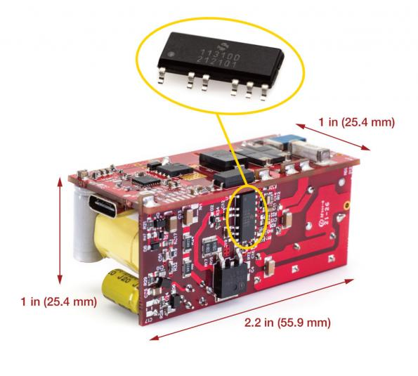 System-in-package boosts AC-DC power density