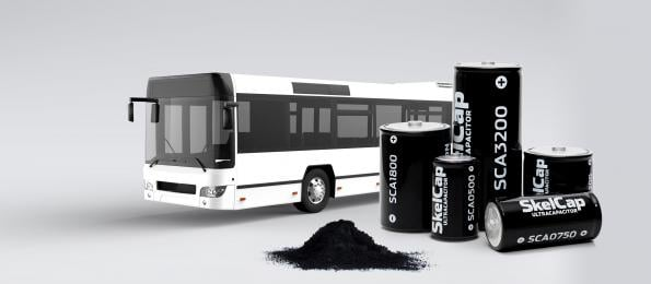 Graphene ultracapacitor boost from bus deal
