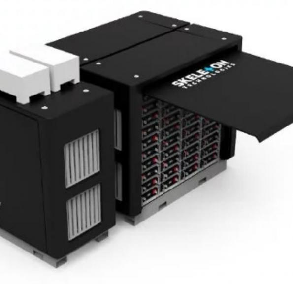 Skeleton launches ultracapacitor grid system