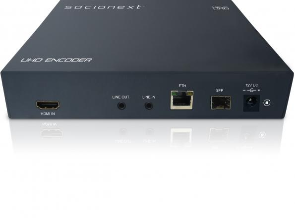 "Socionext's ""X500E"" is an HEVC/H.265 encoder unit that is powered by the company's high-performance codec technology."