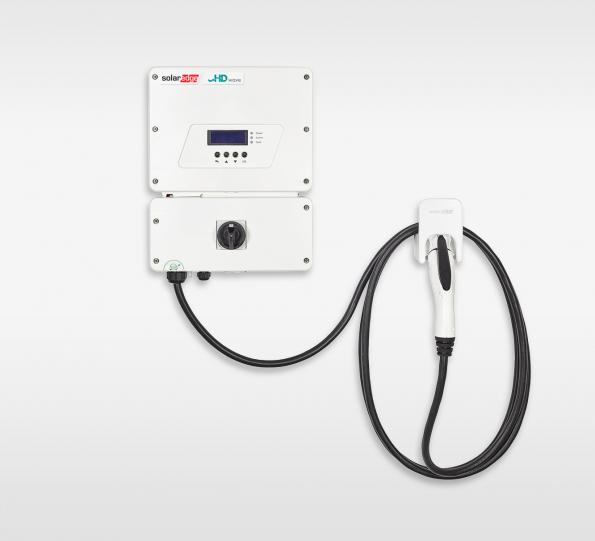World's first combined solar and grid electric car charger