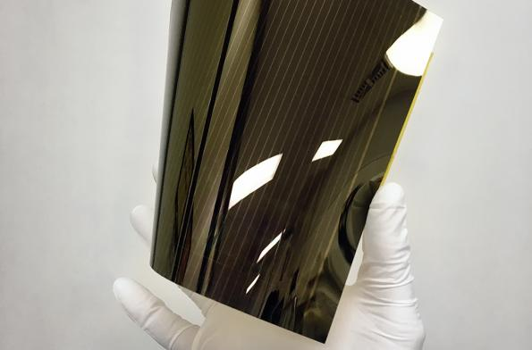 New record for large panel perovskite solar module