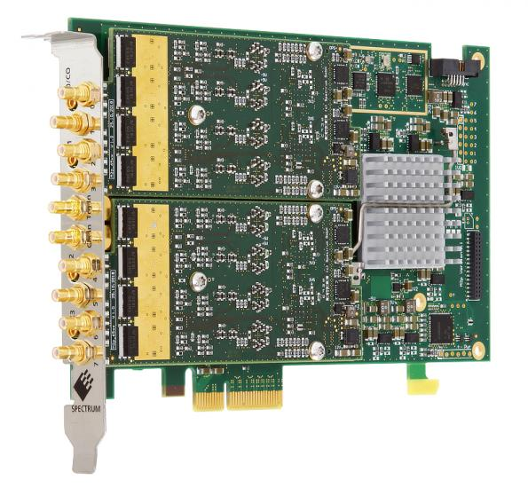 8 channel PCIe card enables 80 synchronized 16bit AWG channels in one PC