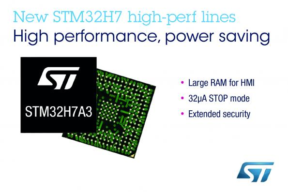 STMicroelectronics' STM32H7A3, STM32H7B3, and STM32H7B0 Value Line MCUs feature 280MHz Arm Cortex-M7 performance, high memory density and power efficiency.