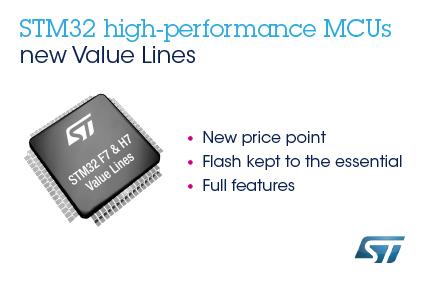 New high-performance STM32 value lines