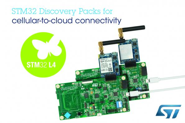 STM32 Discovery Packs simplify cellular-to-cloud connectivity