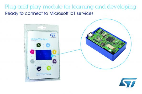STMicroelectronics' SensorTile.box is a flexible IoT Plug and Play module that allows users to build applications through a graphical wizard.