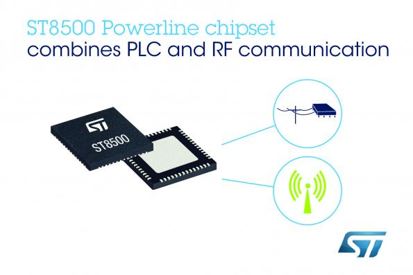 STMicroelectronics's ST8500 powerline communication (PLC) chipset now enables smart meters to communicate through power cables or wireless communications.