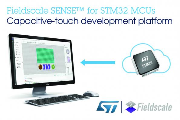 STMicroelectronics and Fieldscale have partnered to simplify development of touch-enabled user interfaces for designs using ST's STM32 MCUs.