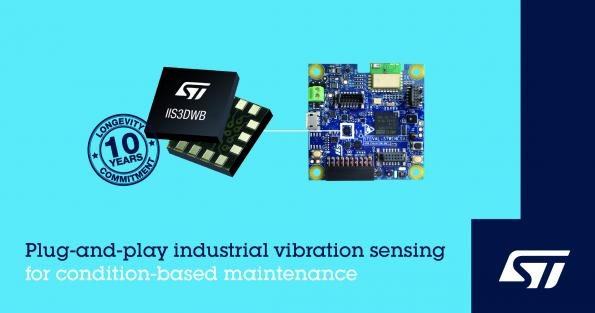 STMicroelectronics has introduced a new 3-axis MEMS accelerometer device that has been tailored for vibration-sensing applications in smart maintenance applications.