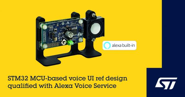 STMicroelectronics has launched an Amazon-qualified reference design package that provides Alexa Voice Service (AVS) Integration for AWS IoT Core.