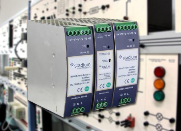 High efficiency slimline DIN rail power supplies reach 960W
