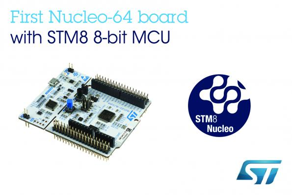 STM8 Nucleo boards feature Arduino Uno connectors for expansion