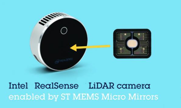 MEMS micromirror aids Intel's RealSense lidar