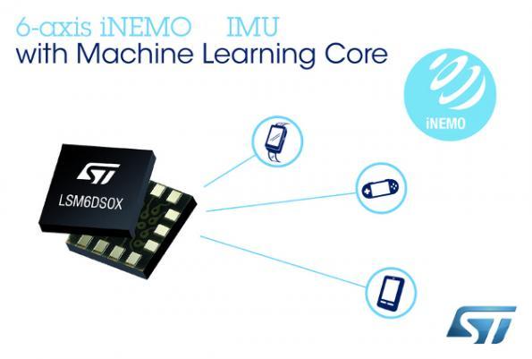 ST embeds machine learning in 6DoF motion sensor